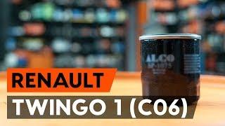 Hvordan udskiftes oljefilter og motorolje on RENAULT TWINGO 1 (C06) [GUIDE AUTODOC]