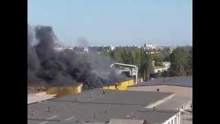 Запорожье 06.09.2014 8.30 пожар на фирме ОЛИС