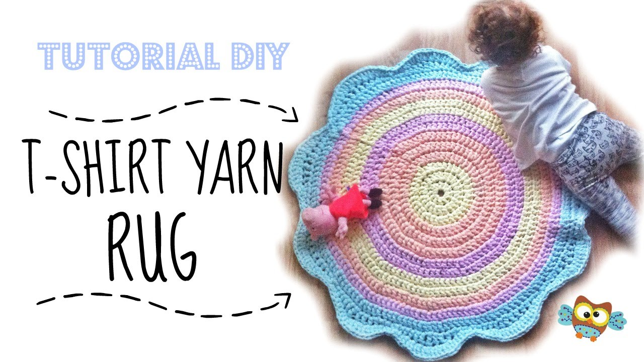 DIY Easy and beautiful T-SHIRT YARN RUG