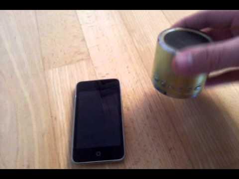 MP3-Player ohne Kopfhörer - transportable Lautsprecher