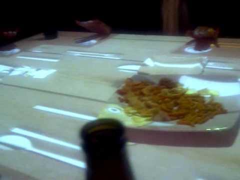 Mesa interactiva en el Café Ocho de la Condesa, México DF
