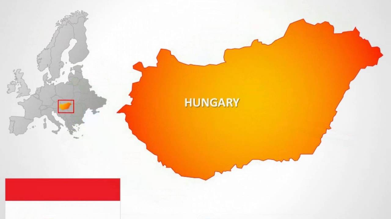 Hungary Maps Hungary PowerPoint Maps Presentation YouTube - Map of united states for powerpoint presentation