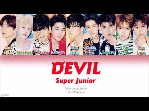 Super Junior ()  DEVIL (Color Coded Lyrics) [Han/Rom/Eng]