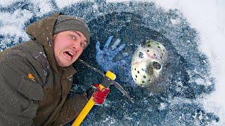Эти опасные и жуткие находки мы нашли во льдах замерзшей реки где пропал убийца