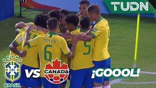 ¡Ya es goleadaaa! | Brasil 4 - 0 Canadá | Mundial Sub-17 - J 1 | TUDN