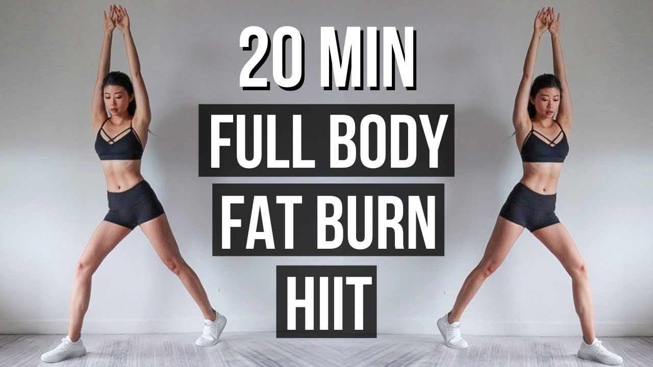 20 min Full Body Fat Burn HIIT (with No Jumping Options) | 15-DAY CHALLENGE ~ Emi