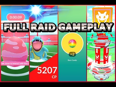 Pokémon GO FULL RAID GAMEPLAY! Croconaw BOSS, RARE CANDY & NEW ITEMS!