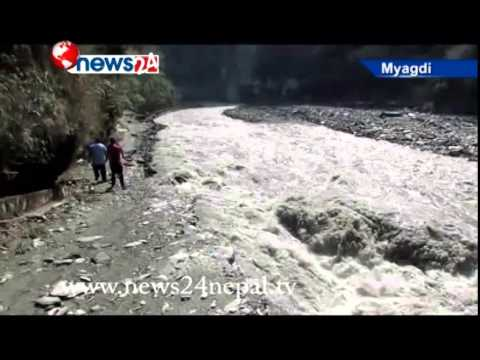 थुनिएको ठाउँबाट नदी नियमित बगेपछि खतराको खड्गो ट¥यो  - NEWS 24