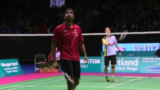 Badminton - Hans-Kristian Vittinghus vs Rajiv Ouseph (MS, Final) - Scottish Open 2015