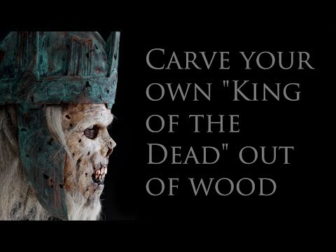 """Carve your own """"King of the Dead"""" mask out of wood"""