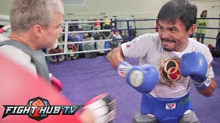 Pacquiao vs. Algieri- Manny Pacquiao final workout before Algieri fight- Fast, Ready to go