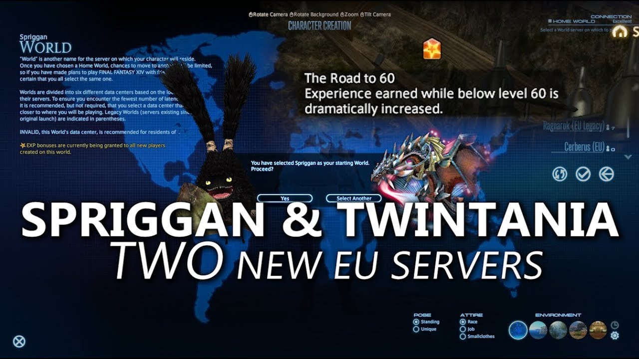 Ffxiv Best Server 2019 FFXIV: Spriggan & Twintania   Two New EU Servers!   YouTube