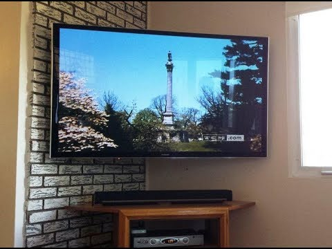 Corner Wall Mounted Tv Youtube