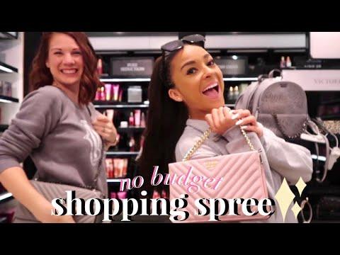 NO BUDGET Shopping Spree!♡Victoria's Secret, PINK, Lush, Etc!