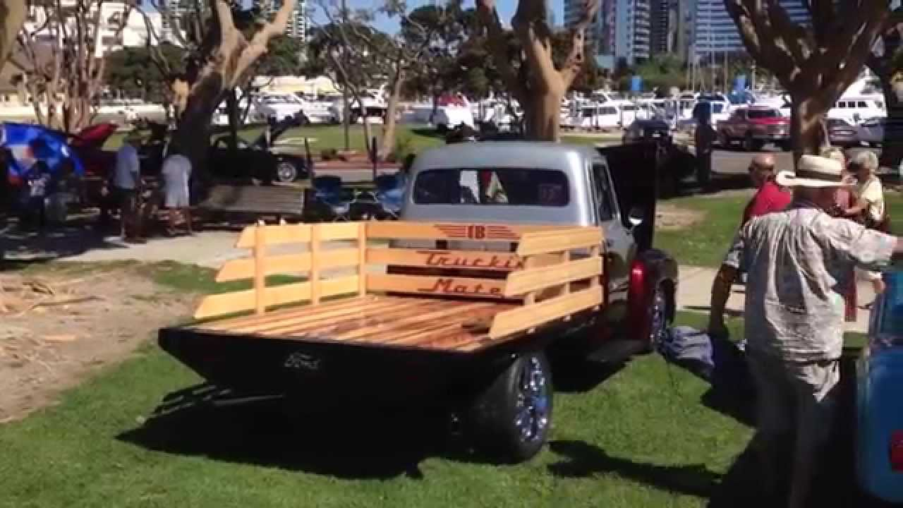 Trophy winner mustangmedic and mike s 1955 f350 ford truck mustangs by the bay part 8 2014