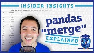 How do I meŗge DataFrames in pandas?
