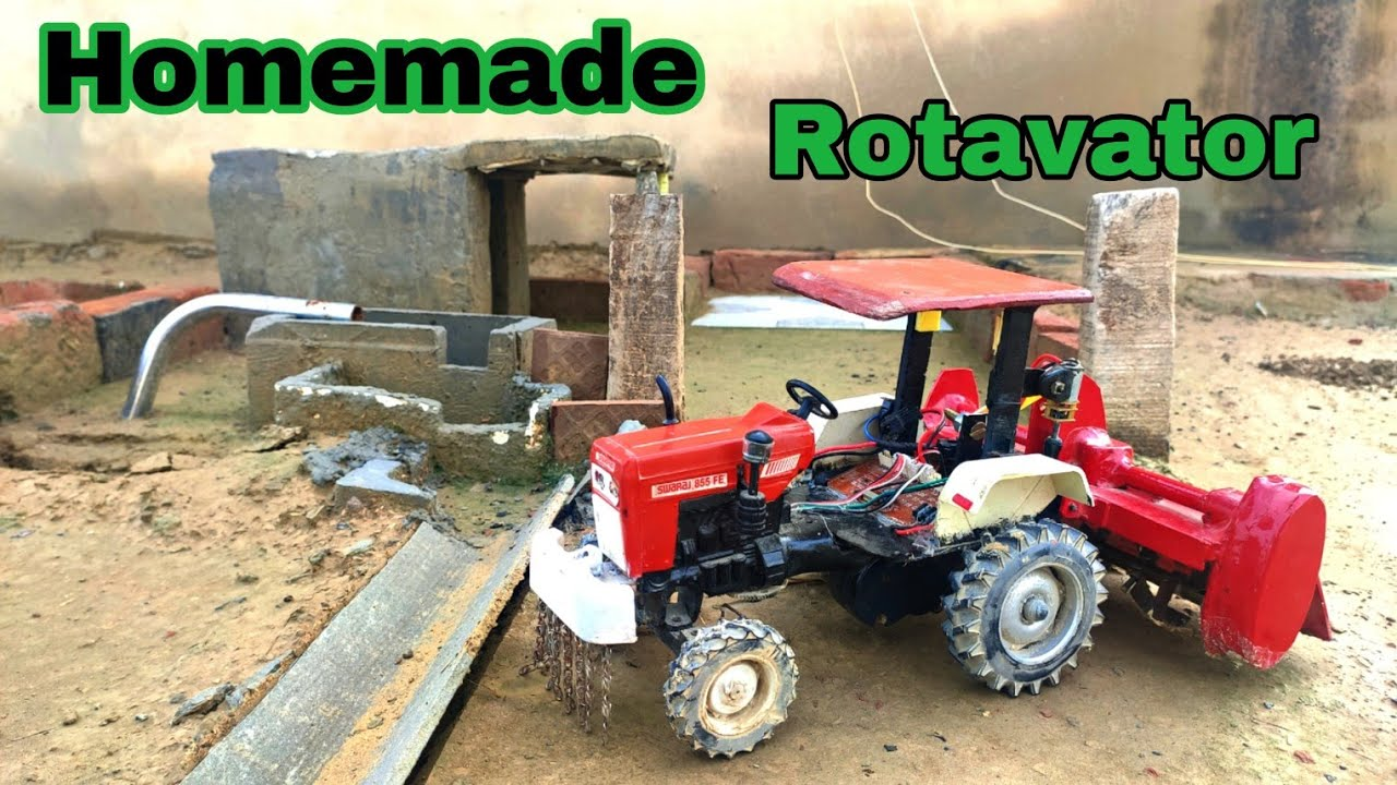Swaraj 855 Tractor model with Homemade Rotavator
