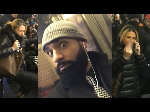 Subway commuter witnesses assault, nabs woman after being called names