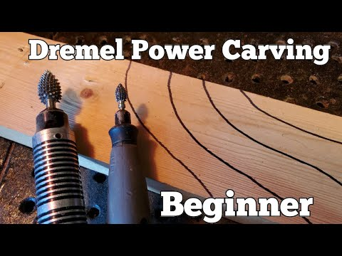 Beginner DREMEL wood carving. How to stop your carving bur from jumping around.
