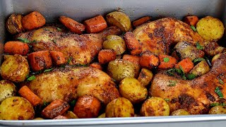 PERFECT ROASTED CHICKEN AΝD POTATOES: BAKED CHICKEN AND POTATOES