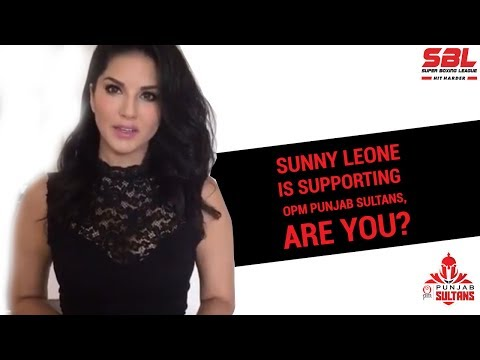 Super Boxing League #SBL video | Sunny Leone is Supporting Punjab Sultans, Are you?