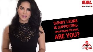 Super Boxing League #SBL video   Sunny Leone is Supporting Punjab Sultans, Are you?