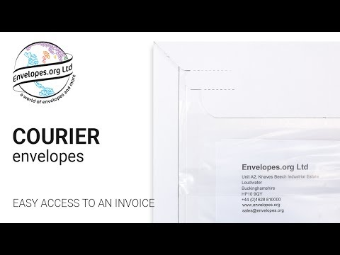 Courier envelopes: How to get easy access to an invoice or delivery note