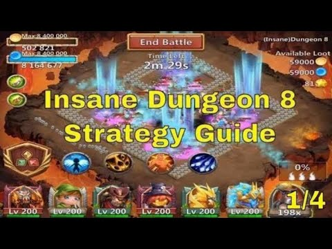 Castle Clash Insane Dungeon 8 Strategy Guide