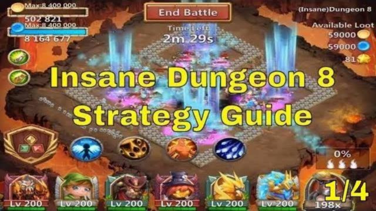 Castle Clash Insane Dungeon 8 Strategy Guide Youtube