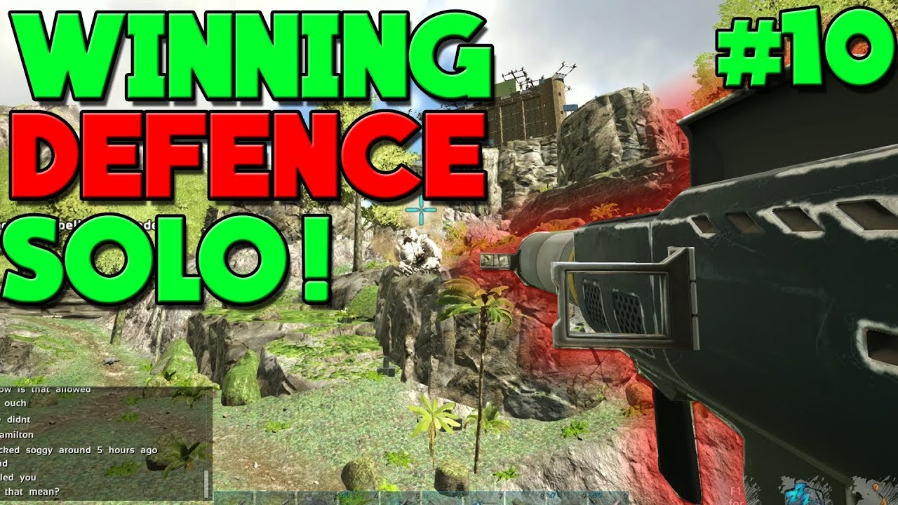 - SOLO DEFENDING MY BASE AND WINNING!- DAY 10 - NEW ARK VALGUERO MTS: 3 MAN  SERVERS!