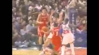 Nate Robinson Blocks Yao Ming [HD]