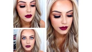 ♡Burgundy, Red, Dark Lip With Smokey Eye Makeup Tutorial♡