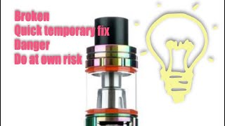 Smok v8 baby button broken danger do at own risk may get burned or worse if so it's at your own risk
