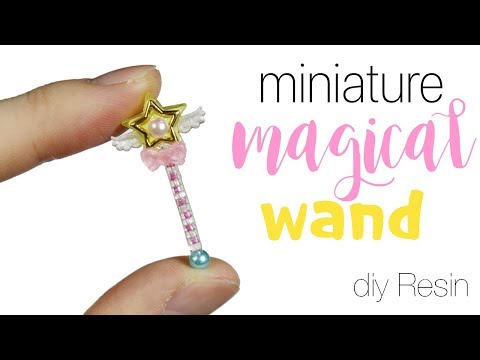 How to DIY Miniature Super Tiny! Magical Star Wand Resin Tutorial