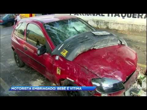 Motorista embriagado mata bebê em acidente