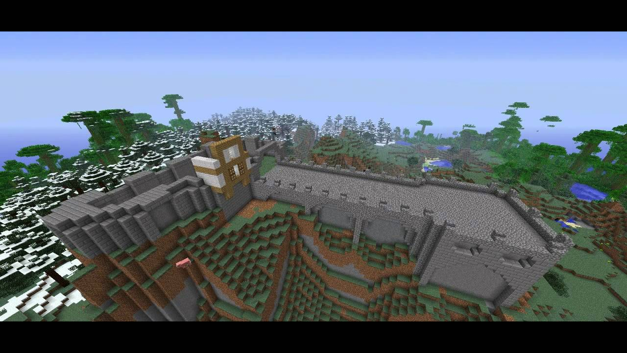 Minecraft Stavba Hradu Timelapse PART 1 - YouTube