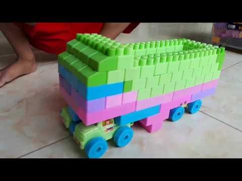 Cara Membuat Truk Dari Lego Block || Anak Kreatif || Anak Ceria || Permainan Bongkar Pasang