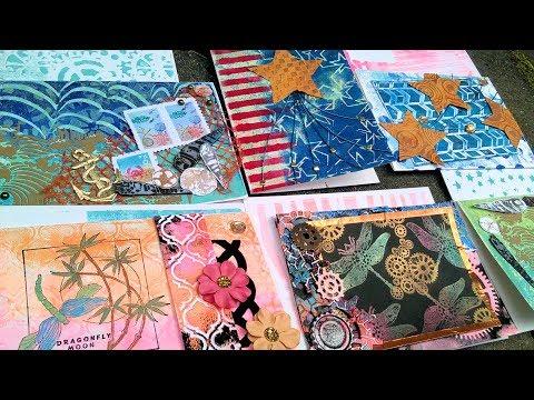 Gel Printing & Cardmaking Workshop! Giveaway too!!!!