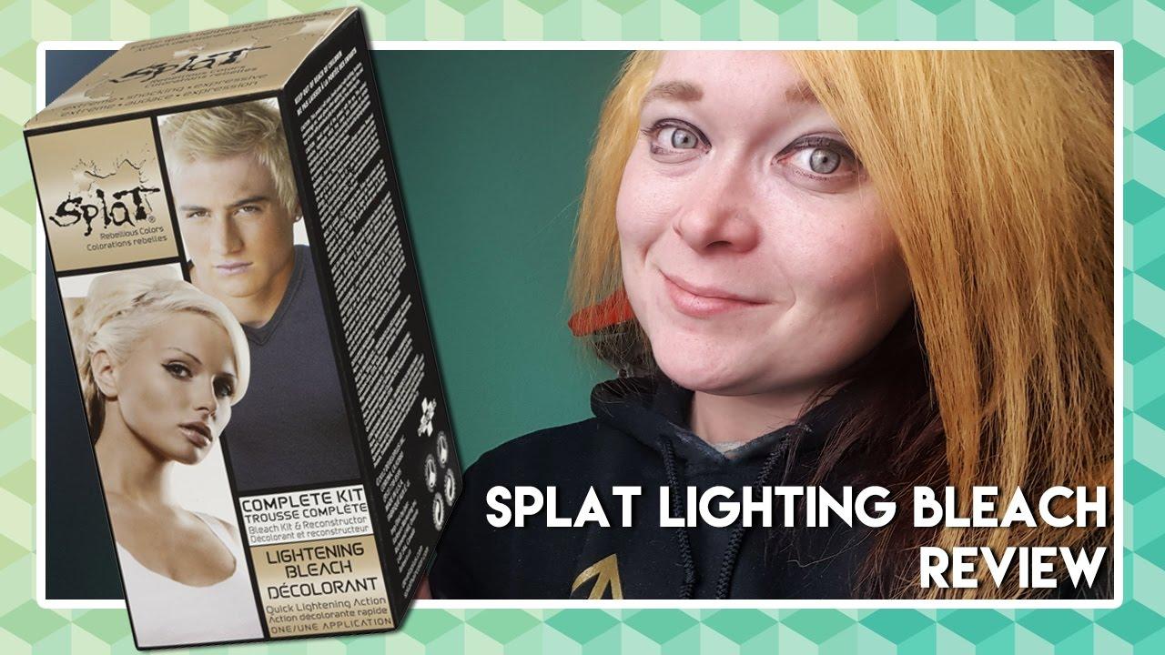 splat bleach on brown hair