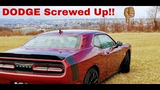 I HATE this about my 2018 Dodge Challenger Scat Pack!!!