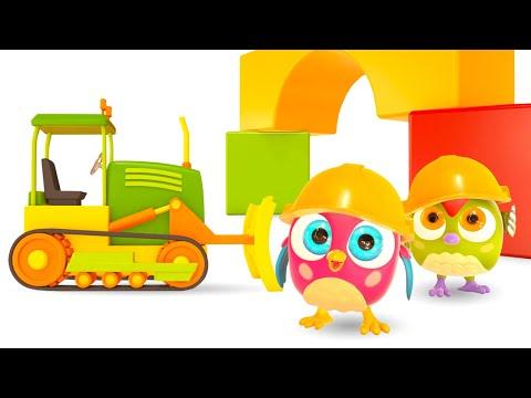 Развивающие мультики для малышей Совенок ХопХоп. Домик из кубиков