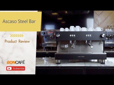 รีวิวเครื่องทำกาแฟกึ่งอัตโนมัติ Ascaso Steel Bar  2 หัวกรุ๊ป