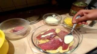 Мясо по французски Просто и Вкусно! Запекаем мясо в духовке