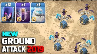 New Ground Attack 2019! 12 Max Witch 7 Bat Spell 3 Ice Golem :: TH12 WAR 3 STAR ATTACK STRATEGY 2019
