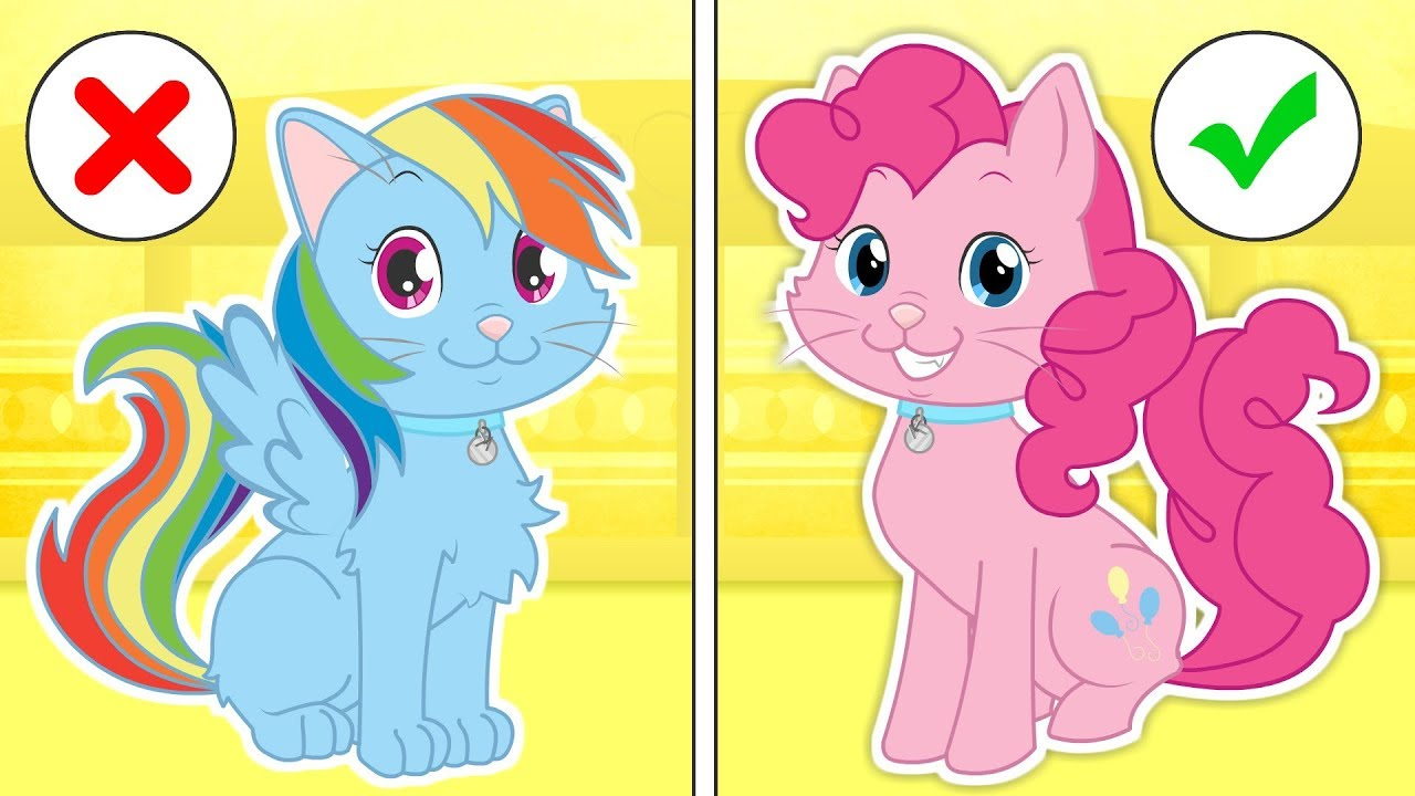 baby-pets-kira-dresses-up-as-my-little-pony-s-pinkie-pie-cartoons-for-children