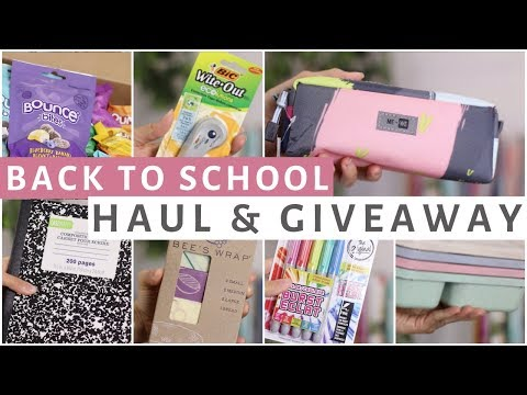 BACK TO SCHOOL SUPPLIES HAUL 2017 & GIVEAWAY