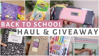 BACK TO SCHOOL SUPPLIES HAUL 2017 &amp GIVEAWAY