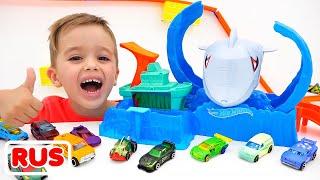 Влад и Никита играют с игрушечными машинками | Hot Wheels City