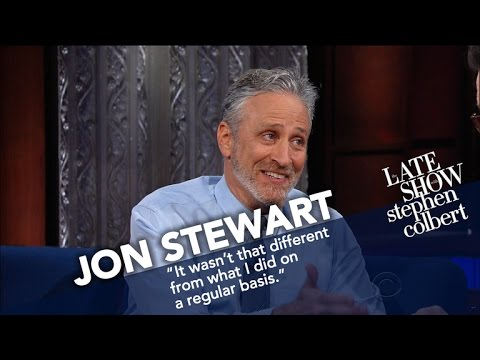 Jon Stewart Ribs Stephen For His Recent Language