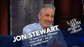 Download Jon Stewart Ribs Stephen For His Recent Language Mp3 and Videos